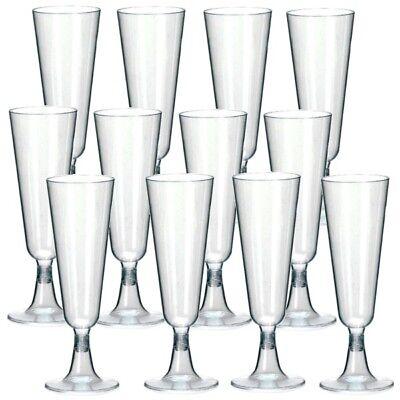10/20/30/40/50/70/100 X EINWEG SEKTGLÄSER 0,1L Champagnerglas Sektglas Plastik - Kunststoff Champagner