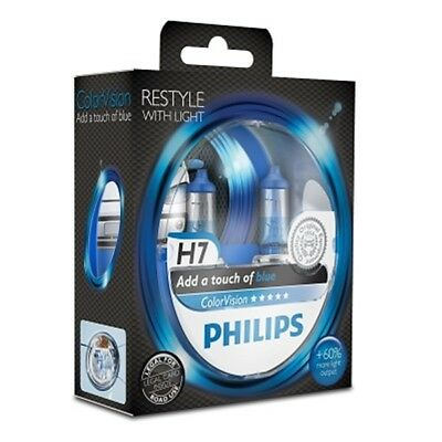 PHILIPS ColorVision H7 12V 55W blue 2er Blister Glühlampe - 12972CVPBS2 7 Color Twin Pack