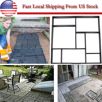 Diy Driveway Walk Paving Patio Concrete Slabs Brick Path Street Maker Mould   Us