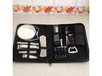 Gentleman's travel grooming set.