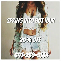 SECRET LAYERS - 20% OFF TAPE-IN EXTENSIONS - SPRING PROMO!