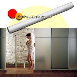 Rotolo pellicola effetto opaca adesivo per finestre vetro bagno 300x60cm pvc ebay - Pellicola a specchio per finestre ...
