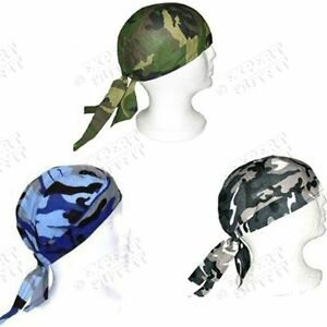 3 LOT Assorted Camo Camouflage SKULL CAP DOO DU RAG HAT NEW WHOLESALE SALE!