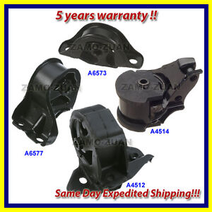 92-93 Acura Integra 1.8L Engine Motor & Trans. Mount Set 4PCS for Manual Trans.