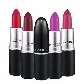 5pcs Joblot bulk Wholsale Mac lipsticks cosmetics new