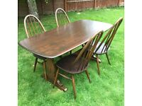 Ercol table and four chairs in very good condition