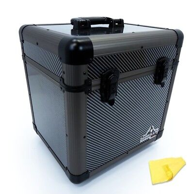 "Gorilla LP80 12"" LP Vinyl Record Carry Storage Case Box - Carbon - Holds 80"
