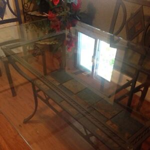 FREE DELIVERY Glass dining table