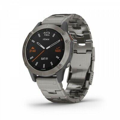 Garmin fenix 6 Sapphire Titanium GPS Watch Vented Titanium Bracelet 010-02158-22