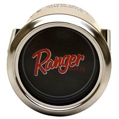 Ranger Boats 5532128 Black Red 2 Inch Marine Brand / Blank Logo Gauge