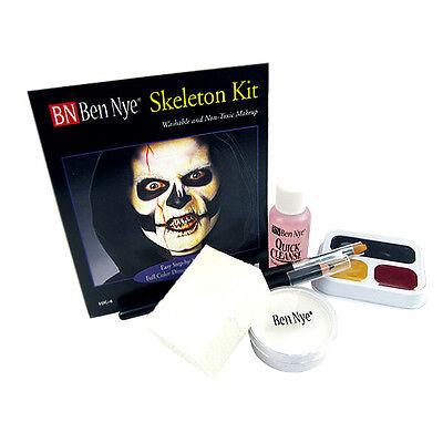 Ben Nye Skeleton Kit Character Theatrical Stage Makeup HK-4 - Skeleton Makeup Kit