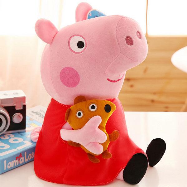 Plüsch Puppe Stofftier4 Stüc Schweine Peppa Wutz Peppa Pig Familie Plüschtiere D
