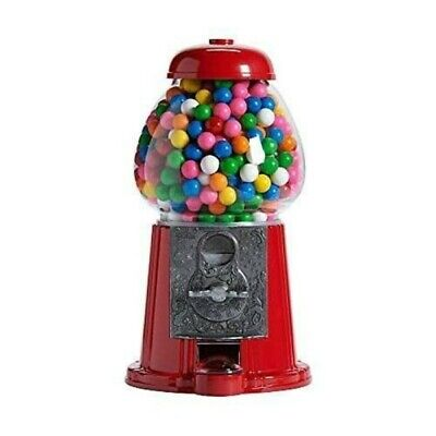 Candy Dispenser Vending Machine Bubble Gum Gumball Bank Nuts Kids Vintage Glass