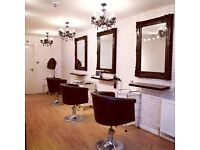 Threading chair to rent in busy salon