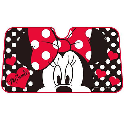 DISNEY Minnie Mouse Sun Block Shade Shield Cool Summer Universal Car Accessories (Disney Car Accessories)