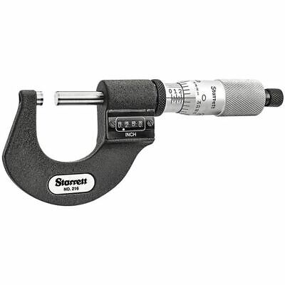 Starrett 55959 T216xrl-1 0-1 .0001 Mechanical Digital Outside Micrometer