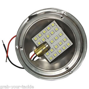 boat led caravan interior dome light upgrade 12v high output light upgrade kit ebay. Black Bedroom Furniture Sets. Home Design Ideas