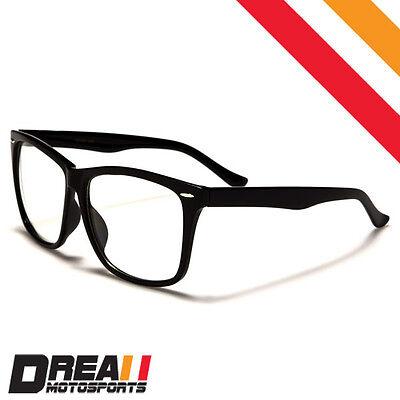 NEW NERD GEEK RETRO SQUARE FRAME Men Women Unisex CLEAR LENS EYE GLASSES (Square Geek Glasses)
