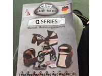 Baby-Merc Q series pram