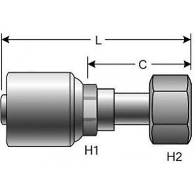 Lot Of 10 Gates 4g-4fjx - G25170-0404 Hydraulic Hose Fittings