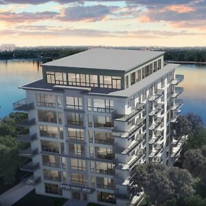 Water view  condo for rent in Laval