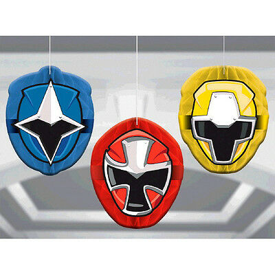 Power Rangers Ninja Steel Honeycomb Ball Decoration Birthday Party Supplies ~3ct - Power Rangers Party Decorations