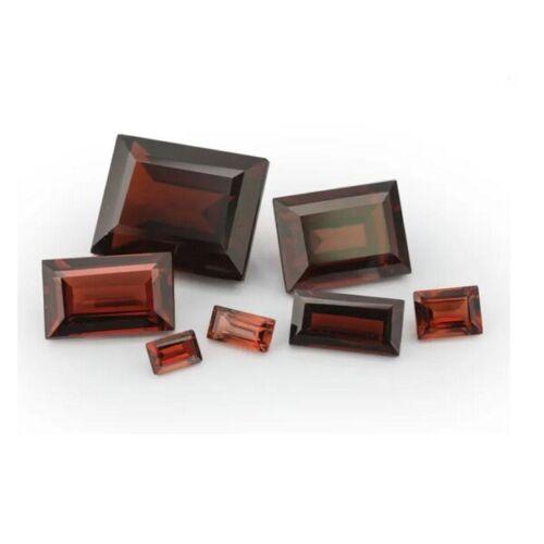 Natural Garnets x9 - 3mm x 2mm Baguette Cut Loose Gemstones January Birthstone