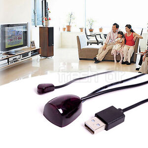 IR Infrared Remote Control Receiver Extender Repeater Emitter USB Adapter New