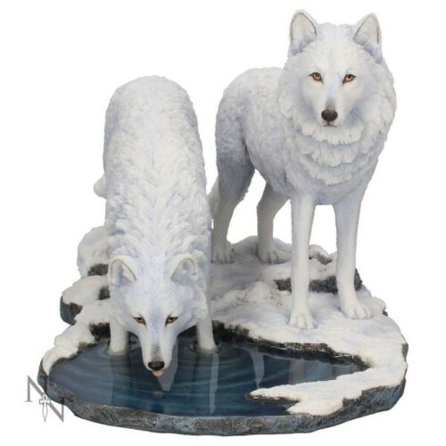 Warriors of Winter White Wolf by Lisa Parker 35cm Statue Figurine