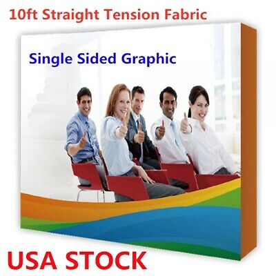 10ft Tension Fabric Trade Show Pop Up Display Backdrop Exhibition Booth Single