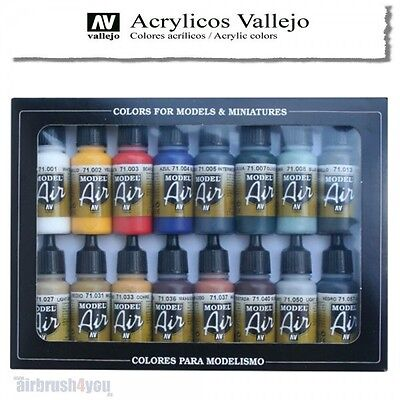 Vallejo Model Air | 16er Color Set | Basic