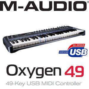 M Audio 02 Usb Midi Controller : m audio oxygen 49 key usb midi controller 3rd gen v3 ebay ~ Vivirlamusica.com Haus und Dekorationen