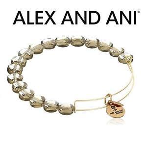 NEW ALEX AND ANI BEAD BRACELET JEWELLERY - JEWELRY - LUXE BEAD BANGLE - SMOKE GOLD 102981882