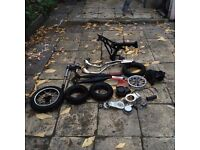 Mini Moto Dirt Bike spare parts Exhausts,frames ,tyres,pull starts etc
