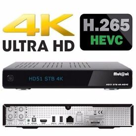 Mutant HD51 4K ultra HD satellite receiver new boxed with Gift