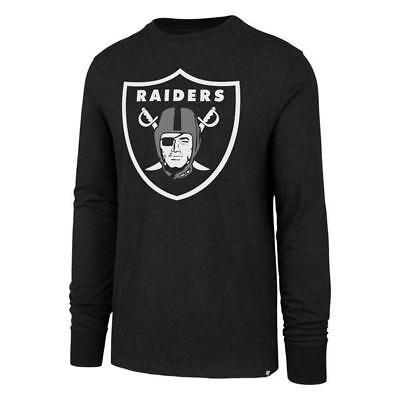Oakland Raiders '47 Brand Black Club Scrum Long Sleeve T-Shirt ()