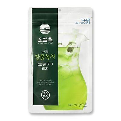 OSULLOC 20EA Cold Water Green Tea Sticks Oriental Cold Drink from Jeju Island No