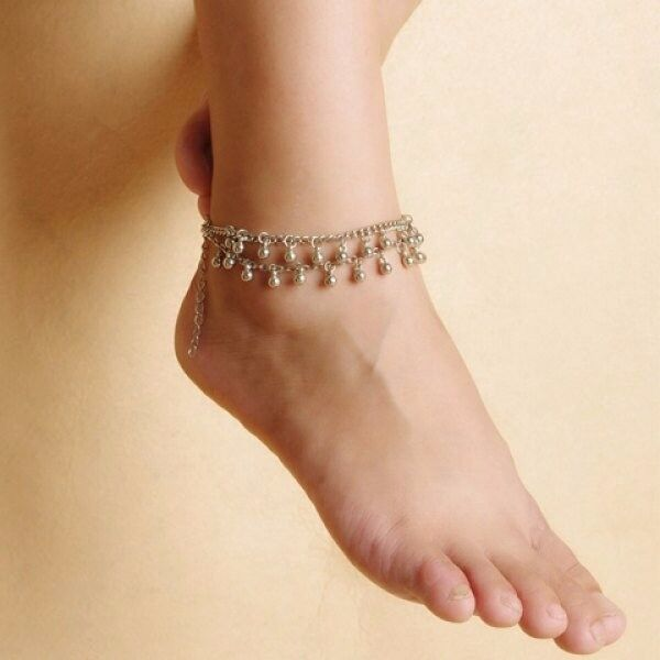Chic Bead Tassel Double-Layer Anklet For Women