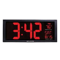 Big Digital Wall Clock Large LED Display School Office 14.5-Inch Red 75127