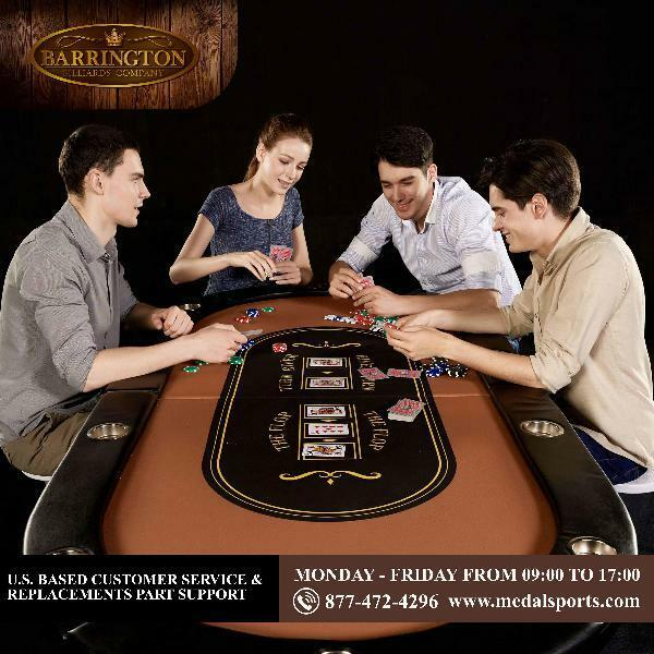 Barrington Poker Table 10Player Folding Easy To Store And Clean W/ Real Velvet