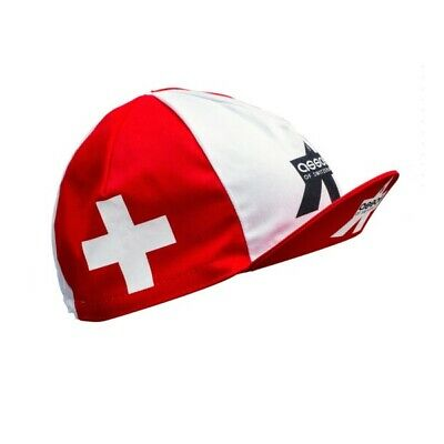 White Made In Italy 100/% Cotton Cycling Cap Summer ASSOS Red