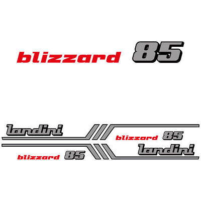 Landini Blizzard 85 Tractor Decal Aufkleber Adesivo Sticker Set