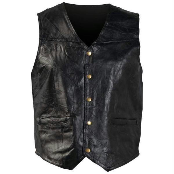 Giovanni Navarre® Italian Stone™ Design Genuine Leather Vest