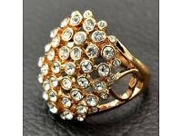 Rhinestoned Ring
