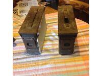 Two ammunition boxes