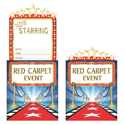 Hollywood Lights Party Invitations - Birthday / Movie Award Night Party Supplies](Movie Night Invitations)
