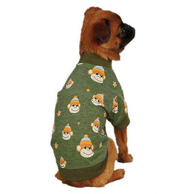 - EAST SIDE COLLECTION DOG PUPPY GREEN BOY CAT PET MONKEY BUSINESS T-SHIRT XXS XL