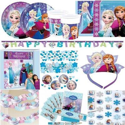 NIGIN Prinzessin Anna Elsa Olaf Kindergeburtstag Party Set (Disney Frozen Geburtstagsparty)