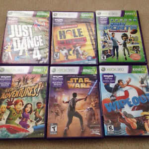 Xbox 360 kinect game lot