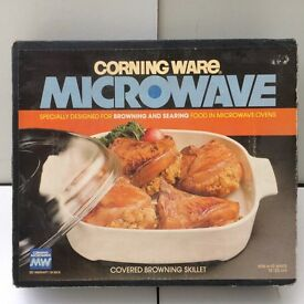 MICROWAVE BROWNING SEARING DISH CORNING WARE UNUSED